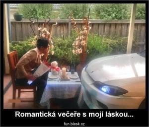 Romantická večeře s láskou
