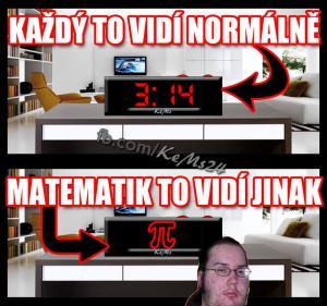 Matematik vidí Pí