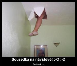 Sousedka na návštěvě! :-O :-D