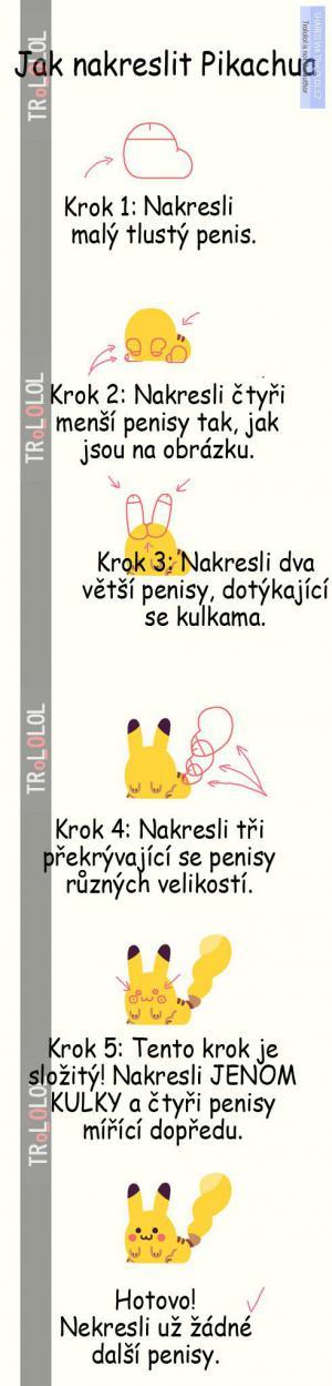 Jak nakreslit Pikachua :D