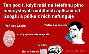 Špatné aplikace od Googlu