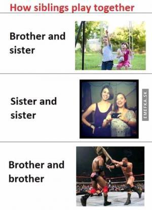Jak si spolu hrají sourozenci