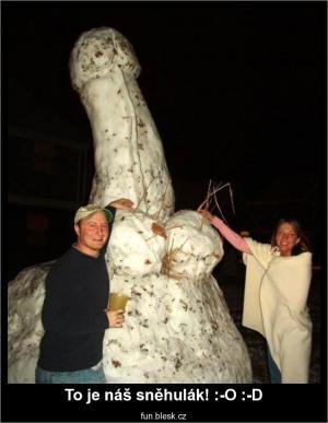 To je náš sněhulák! :-O :-D