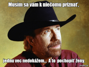 Chuck Norris a jeho přiznání