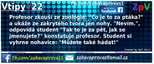 Profesor zkouší ze zoologie :D