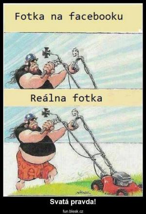Fotka na Facebooku a realtia