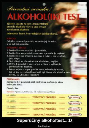 Superúčinný alkoholtest