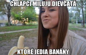 Děvčata a banány