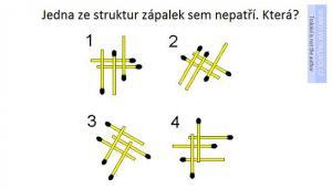 Zápalkový rébus - která ze struktur nepatří mezi ostatní? Pište do komentářů svůj tip!