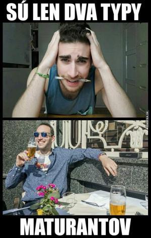 2 typy maturantů