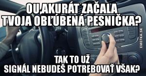 Vždy v autě..