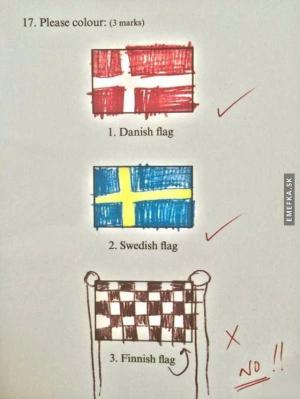 Písemka z vlajek