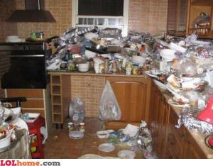 kuchyně po mém vaření