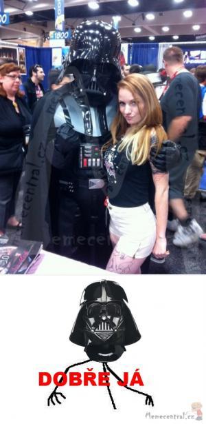 Darth Vader s holkou