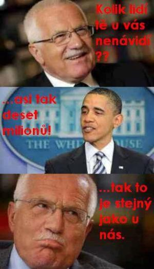 Klaus a Obama