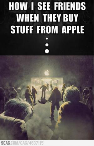 Jak vidím kamarády u obchodu s Applem