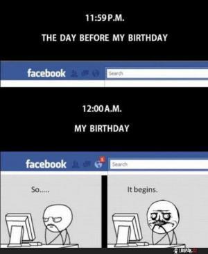 Narozeniny na facebooku