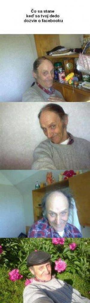 Děda na Facebooku