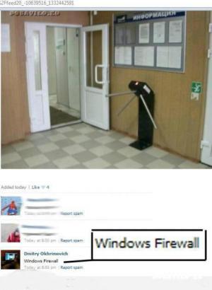Firewall brána na windowsu :-D