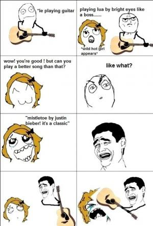 Justin Bieber na kytaru