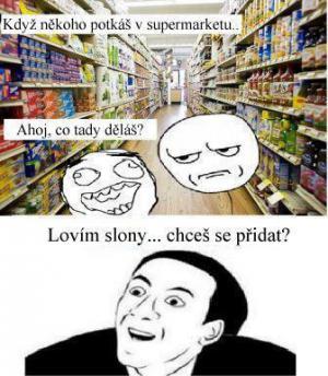 Kámoš v supermarketu
