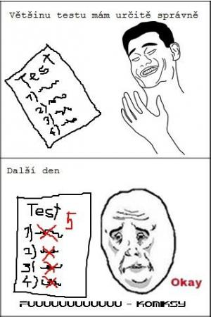 Test ve škole