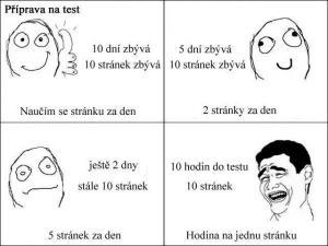 Když se učíš na test