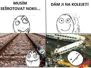 Nokia na kolejích…