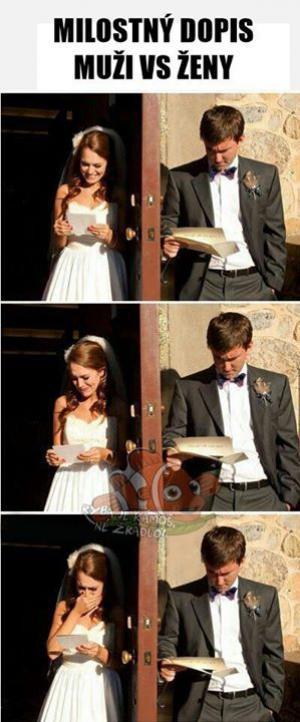 Milostný dopis - Muži vs. Ženy