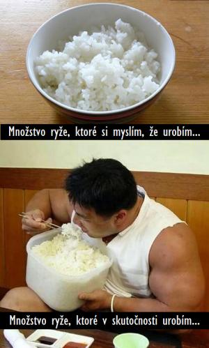 Když si jdu vařit na oběd rýži