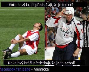 Hokej vs. Fotbal