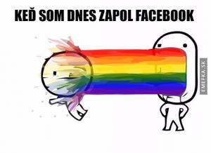 Po zapnutí facebooku