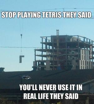 Tetris v realitě