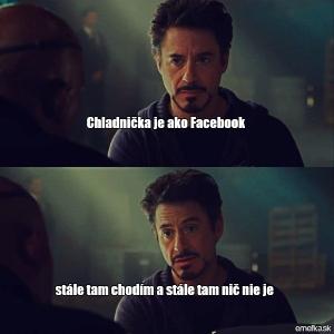 Lednička a Facebook
