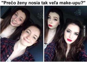 Na co mají holky tolik make-upu