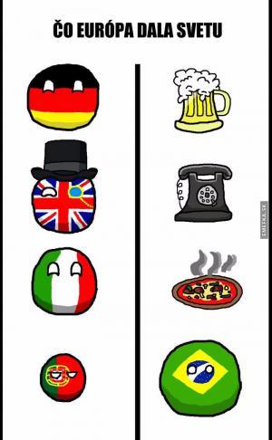 Co Evropa dala světu
