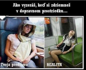 Když usneš ve veřejné dopravě