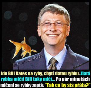 Bill Gates na rybách