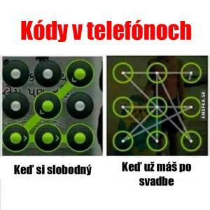Kódy v telefonech