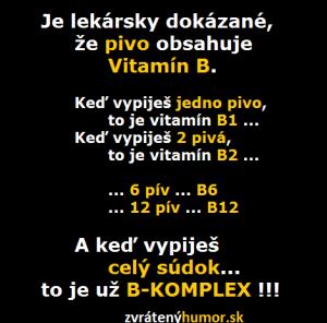 Pivo a vitamín B