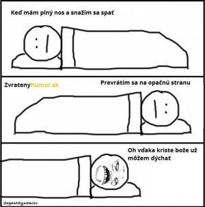 Když máš rýmu před spaním