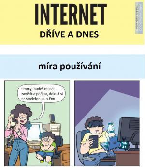Internet před patnácti lety a dnes