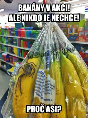 Banány v akci