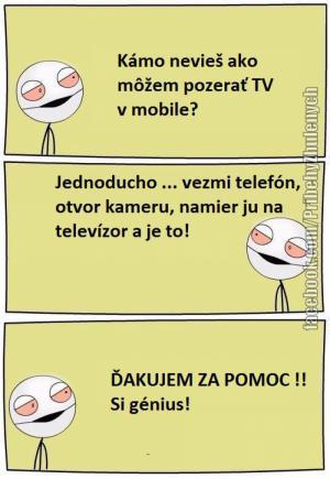 TV v mobilu