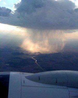 Bouřka z letadla