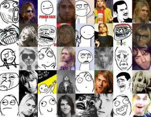 Curt Cobain jako meme
