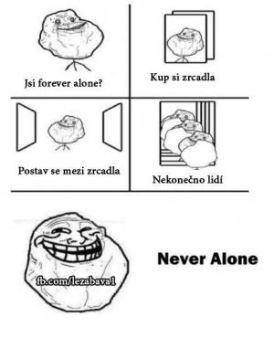 Never For ever alone