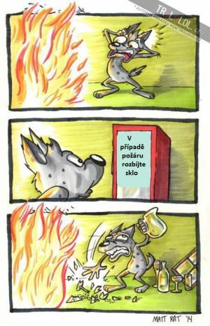 V případě požáru