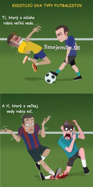 Dva typy fotbalistu
