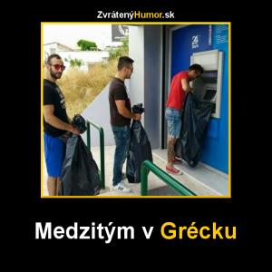 Bankomat v Řecku